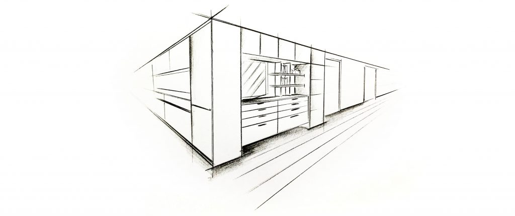 Wohnformat Skizze von Wohnraum